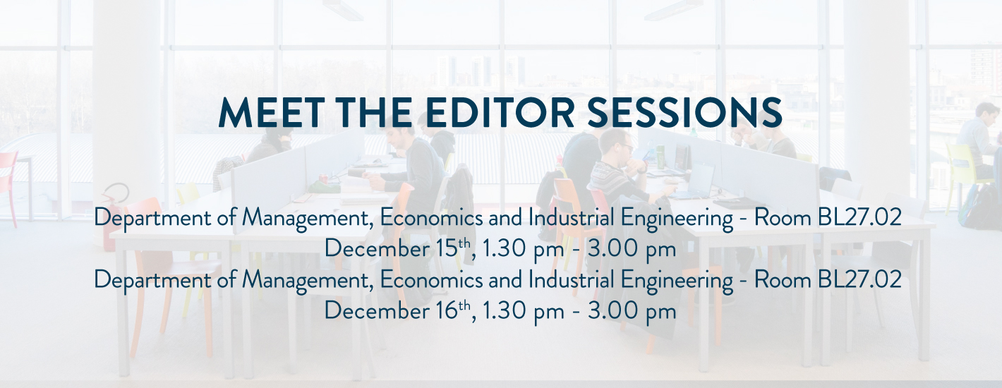 Meet the Editor Sessions